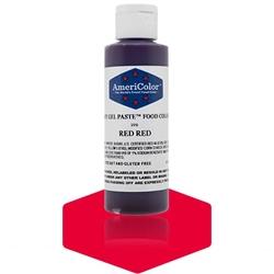 Food Color - Red Red Soft Gel Paste   AmeriColor 219